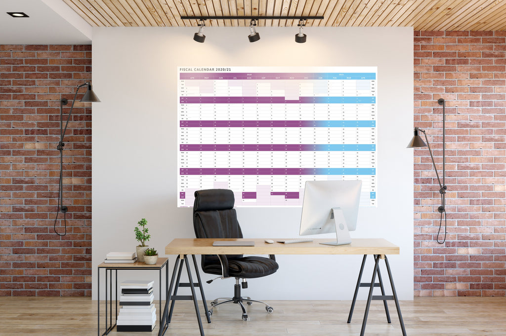 Tax Planner - 2020/21 Fiscal Wall Planner-Purple