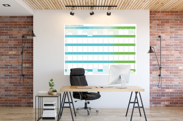 Tax Planner - 2021/22 Fiscal Wall Planner - (Small (61x85cm)
