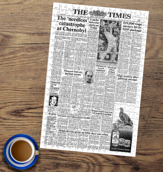 Times Newspaper Front Page Jigsaw Puzzle Times Newspaper Front Page Jigsaw Puzzle