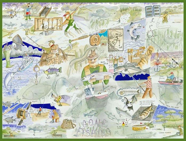 Fishing - Tim Bulmer 1000 Piece Jigsaw Puzzle Fishing - Tim Bulmer 1000 Piece Jigsaw Puzzle