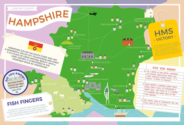 Hampshire - I Love My County 400 piece Jigsaw Puzzle Hampshire - I Love My County 400 piece Jigsaw Puzzle