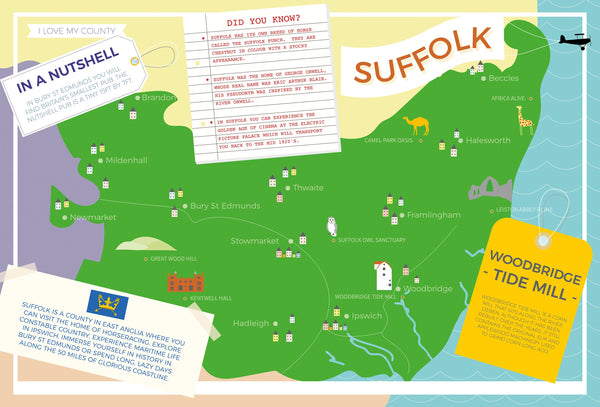 Suffolk - I Love My County 400 Piece Jigsaw Puzzle