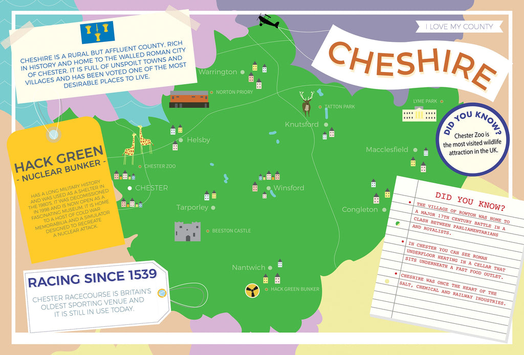 Cheshire - I Love My County 400 piece Jigsaw Puzzle