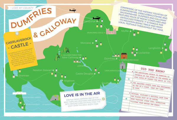 Dumfries and Galloway - I Love My County 400 piece Jigsaw Puzzle Dumfries and Galloway - I Love My County 400 Piece Jigsaw Puzzle
