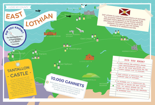 East Lothian - I Love My County 400 piece Jigsaw Puzzle East Lothian - I Love My County 400 Piece Jigsaw Puzzle