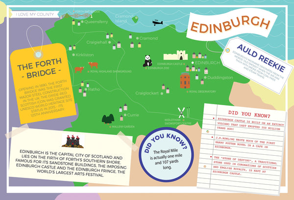 Edinburgh - I Love My County 400 piece Jigsaw Puzzle Edinburgh - I Love My County 400 Piece Jigsaw Puzzle