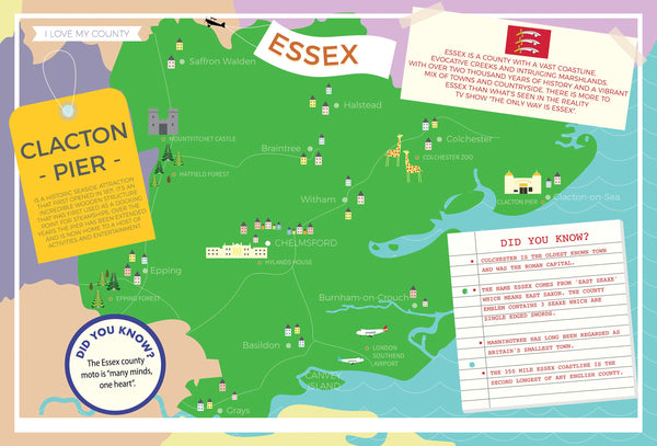 Essex - I Love My County 400 piece Jigsaw Puzzle