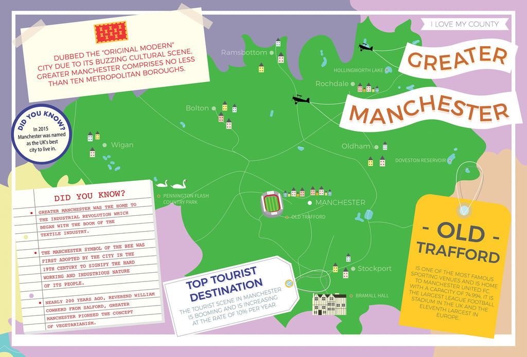 Greater Manchester - I Love My County 400 Piece Jigsaw Puzzle