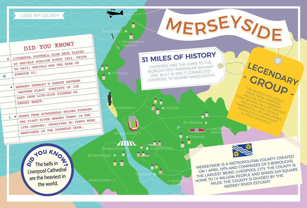 Merseyside - I Love My County 400 Piece Jigsaw Puzzle