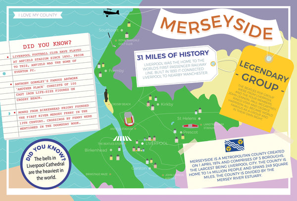 Merseyside - I Love My County 400 Piece Jigsaw Puzzle Merseyside - I Love My County 400 Piece Jigsaw Puzzle