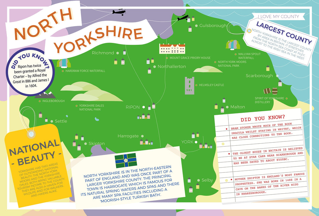 North Yorkshire - I Love My County 400 Piece Jigsaw Puzzle