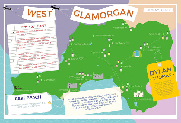 West Glamorgan - I Love My County 400 piece Jigsaw Puzzle West Glamorgan - I Love My County 400 piece Jigsaw Puzzle