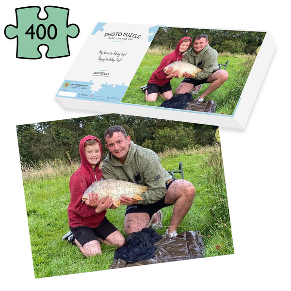 Fishing Gift - 400 piece photo Jigsaw Puzzle