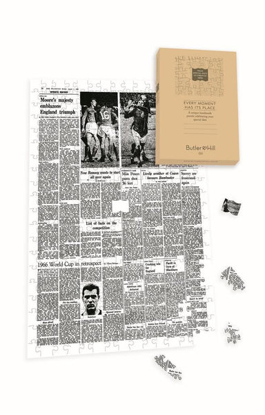 "Personalised ""The Guardian "" Front Page 400 Piece Jigsaw Puzzle - world cup 66 Personalised"