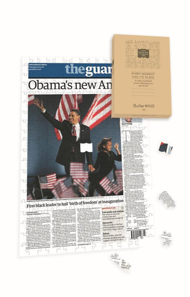 "Personalised ""The Guardian "" Front Page 400 Piece Jigsaw Puzzle - Obama Personalised"