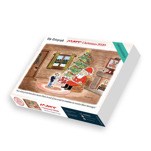 Matt Limited Edition Christmas 2020 400 Piece Jigsaw Puzzle box Matt Limited Edition Christmas 2020 400 Piece Jigsaw Puzzle
