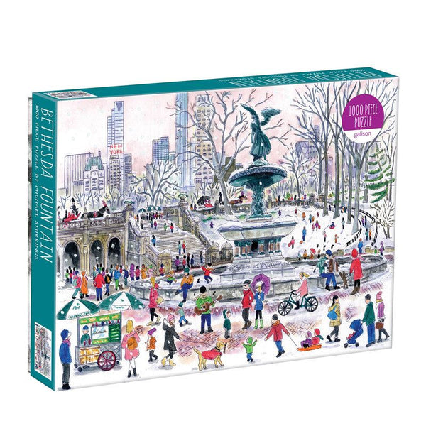 Michael Storrings Bethesda Fountain 1000 Piece Jigsaw Puzzle box Michael Storrings Bethesda Fountain 1000 Piece Jigsaw Puzzle