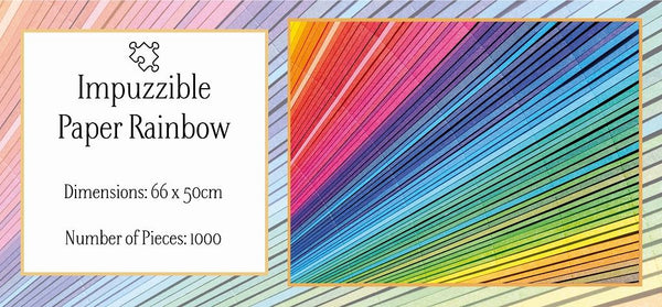 Paper Rainbow - Impuzzible 1000 piece Paper Rainbow - Impuzzible 1000 piece