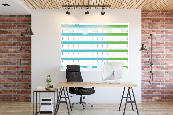 Tax Planner - 2021/22 Fiscal Wall Planner - (Giant 120x85cm)