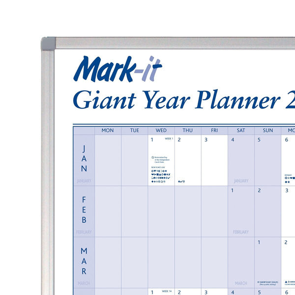Giant 2020 Yearly Wall Planner