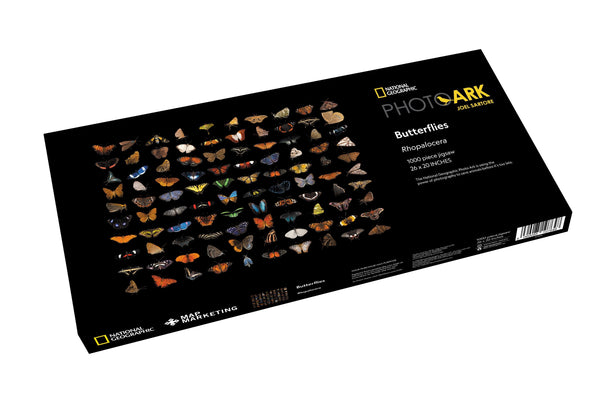 National Geographic Photo Ark - Butterflies 1000 Piece Jigsaw Puzzle box National Geographic Photo Ark - Butterflies 1000 Piece Jigsaw Puzzle