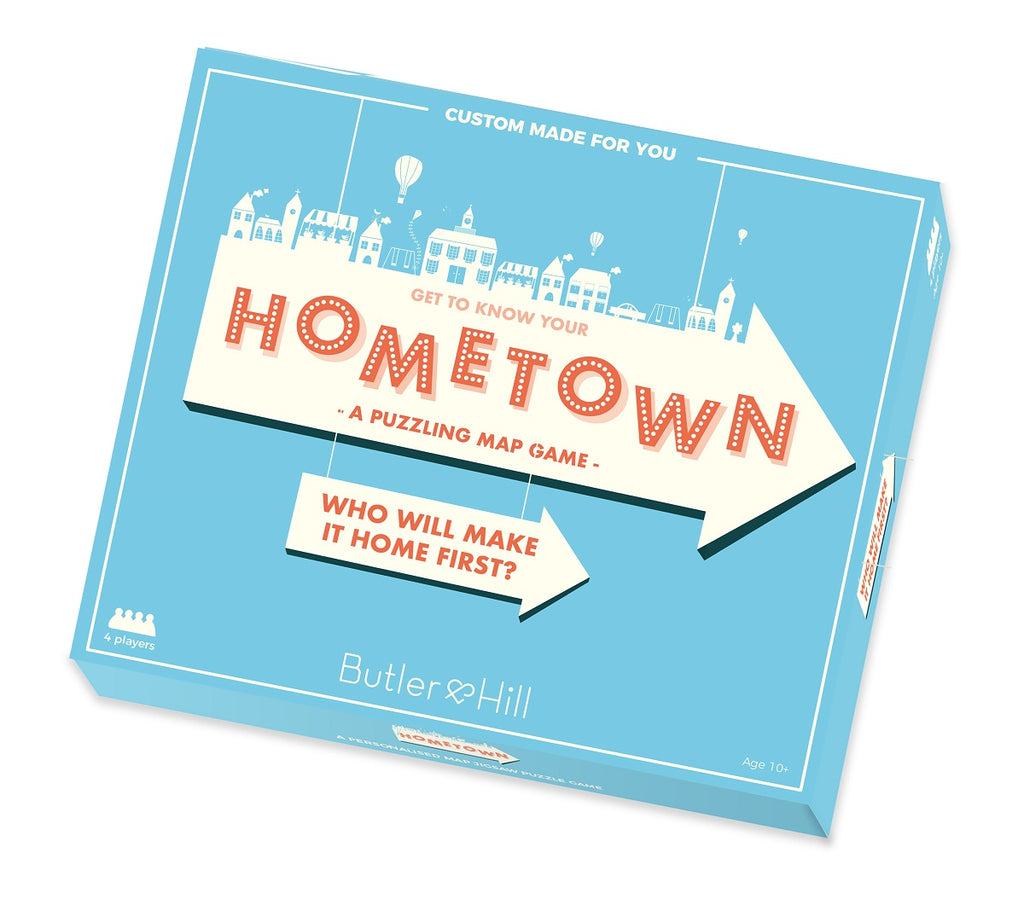 Hometown! Personalised Map Board game