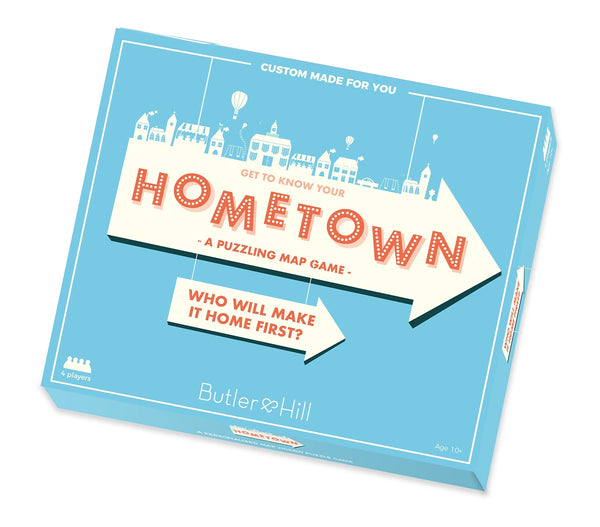 Hometown! Personalised Map Board game Hometown! - A Personalised Map Puzzle Game