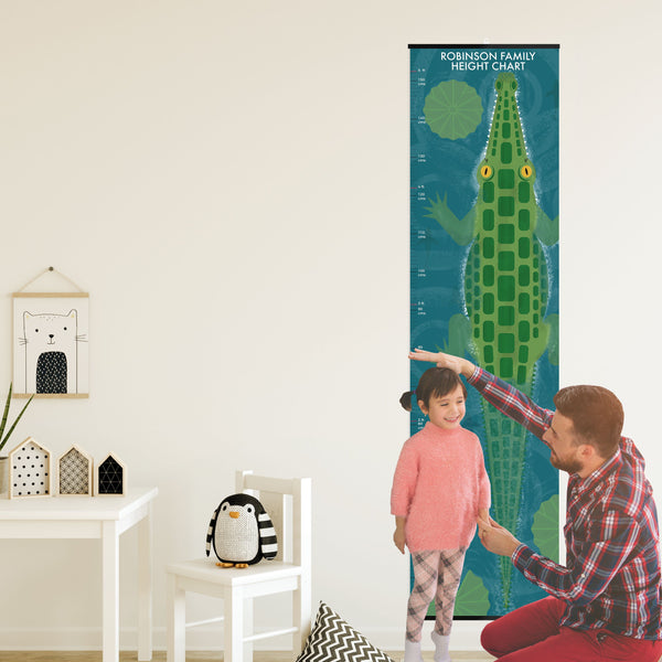 Personalised Children's Animal Height Chart