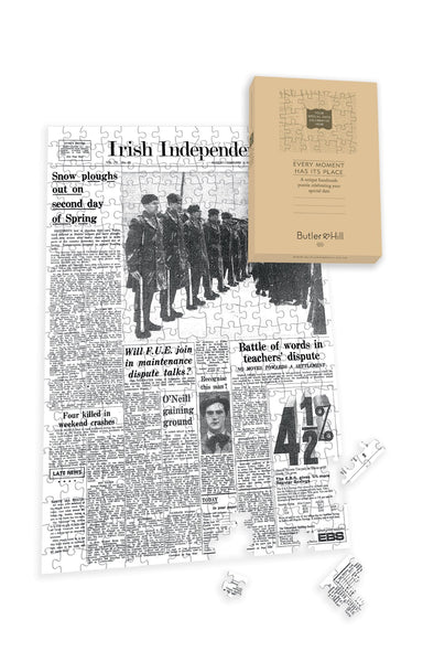 Irish Independent Front Page Jigsaw Puzzle-2 Irish Newspaper Front Page Jigsaw Puzzle