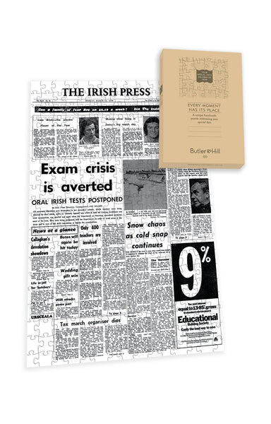 Irish Press Front Page Jigsaw Puzzle-2 Irish Newspaper Front Page Jigsaw Puzzle