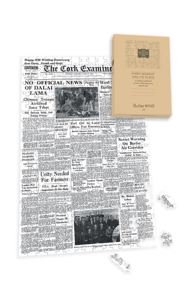 Irish Newspaper Front Page Jigsaw Puzzle Irish Newspaper Front Page Jigsaw Puzzle