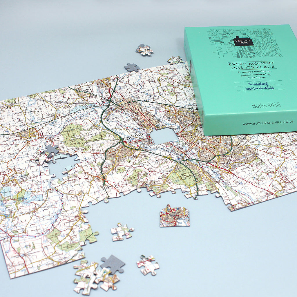 Gift 255 pieces Personalised London Street Map Jigsaw