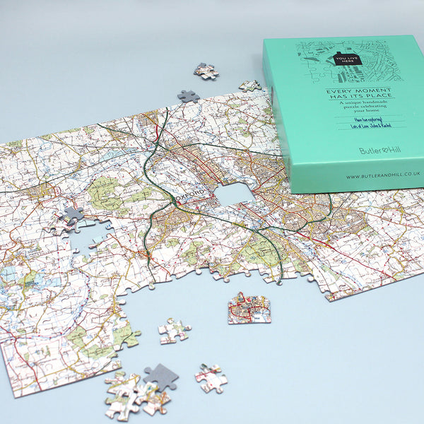 Personalised Map Jigsaw Puzzle Personalised Map Jigsaw Puzzle