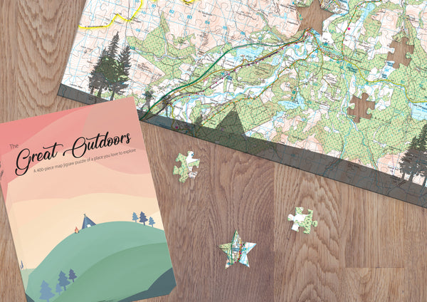 Great Outdoors Personalised Map Jigsaw Puzzle Great Outdoors Personalised Map Jigsaw Puzzle