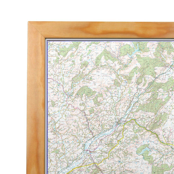 Brecon Beacons National Park Map Brecon Beacons - UK National Park Wall Map