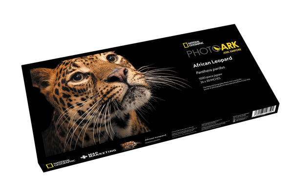 National Geographic Photo Ark - African Leopard 1000 Piece Nature Jigsaw Puzzle box National Geographic Photo Ark - African Leopard 1000 Piece Nature Jigsaw Puzzle