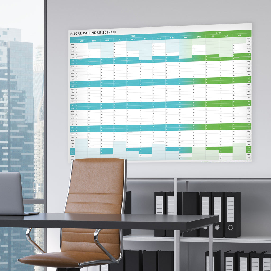 Tax Planner - 2019/20 Giant Fiscal Wall Planner