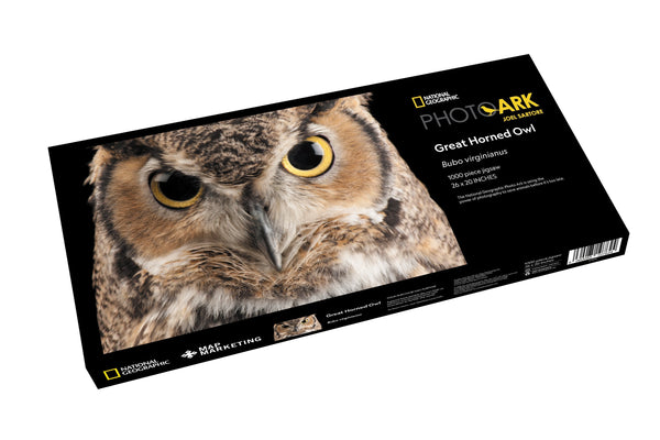 National Geographic Photo Ark - Great Horned Owl 1000 Piece Jigsaw Puzzle - 1 National Geographic Photo Ark - Great Horned Owl 1000 Piece Jigsaw Puzzle