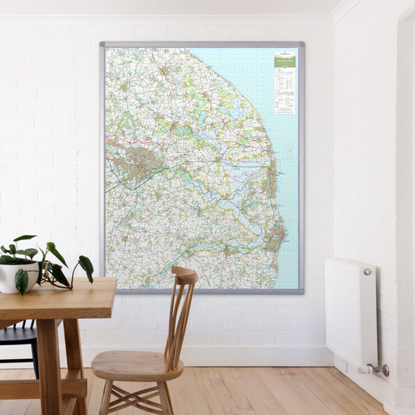 The Broads National Park Map The Broads - UK National Park Wall Map