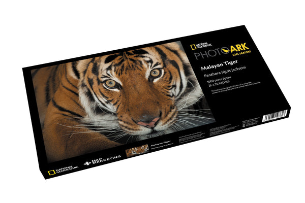 National Geographic Photo Ark Malayan Tiger - 1000 Piece Jigsaw Puzzle - box National Geographic Photo Ark Malayan Tiger - 1000 Piece Jigsaw Puzzle