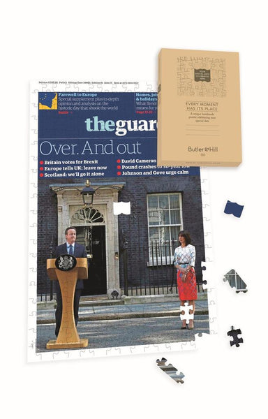 "Personalised ""The Guardian "" Front Page 400 Piece Jigsaw Puzzle - Bexit Personalised"