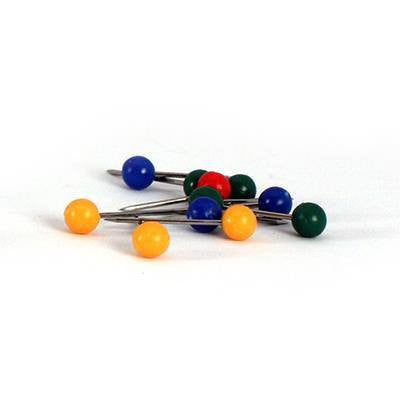 Accessories - Map Pins For Pinboards - 100 Pins (20 Each Of 5 Colours)