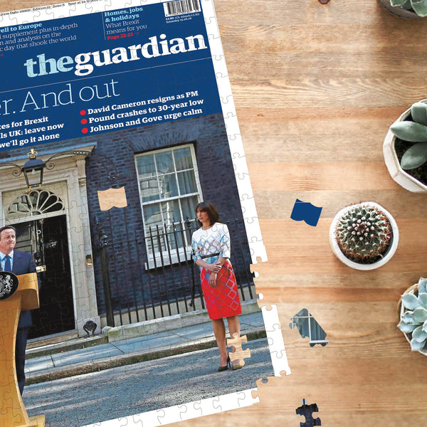 "Personalised ""The Guardian/Observer"" Front Page Jigsaw Puzzle Personalised"