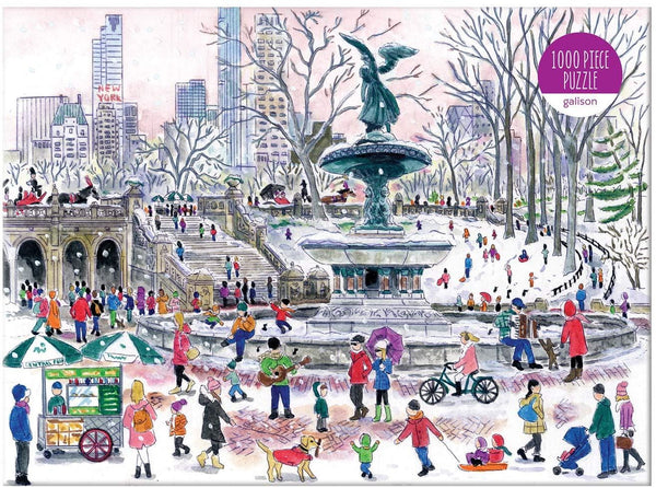 Michael Storrings Bethesda Fountain 1000 Piece Jigsaw Puzzle Michael Storrings Bethesda Fountain 1000 Piece Jigsaw Puzzle