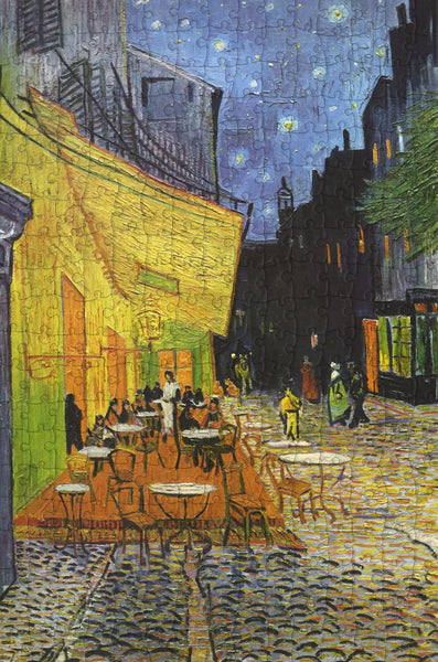 Cafe Terrace at Night  by Van Gogh 300 Piece Wooden Jigsaw Puzzle Cafe Terrace at Night  by Van Gogh 300 Piece Wooden Jigsaw Puzzle