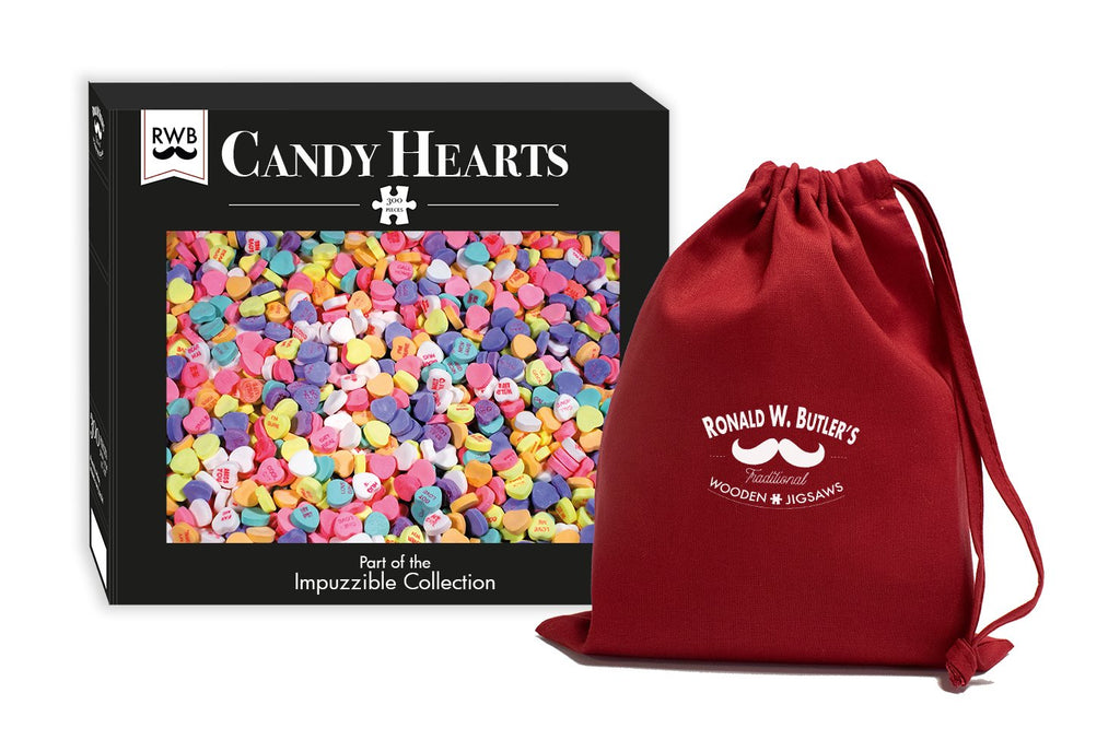 Candy Hearts - Impuzzible - 300 Piece Wooden Jigsaw Puzzle