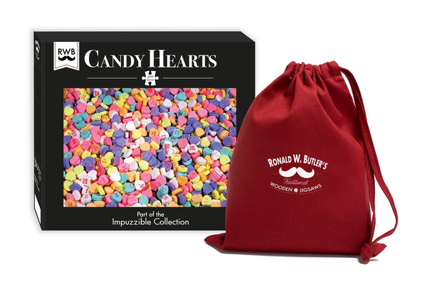 Candy Hearts - Impuzzible - 300 Piece Wooden Jigsaw Puzzle Candy Hearts - Impuzzible - 300 Piece Wooden Jigsaw Puzzle