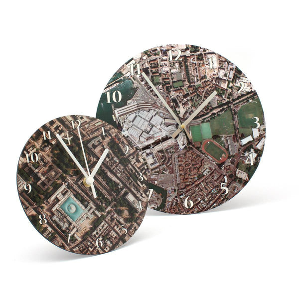 Clock - Aerial Photo Clock - Centred On Your Home