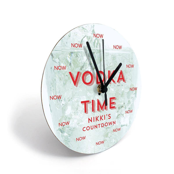 Clock - Booze Clocks - Personalised With A Name