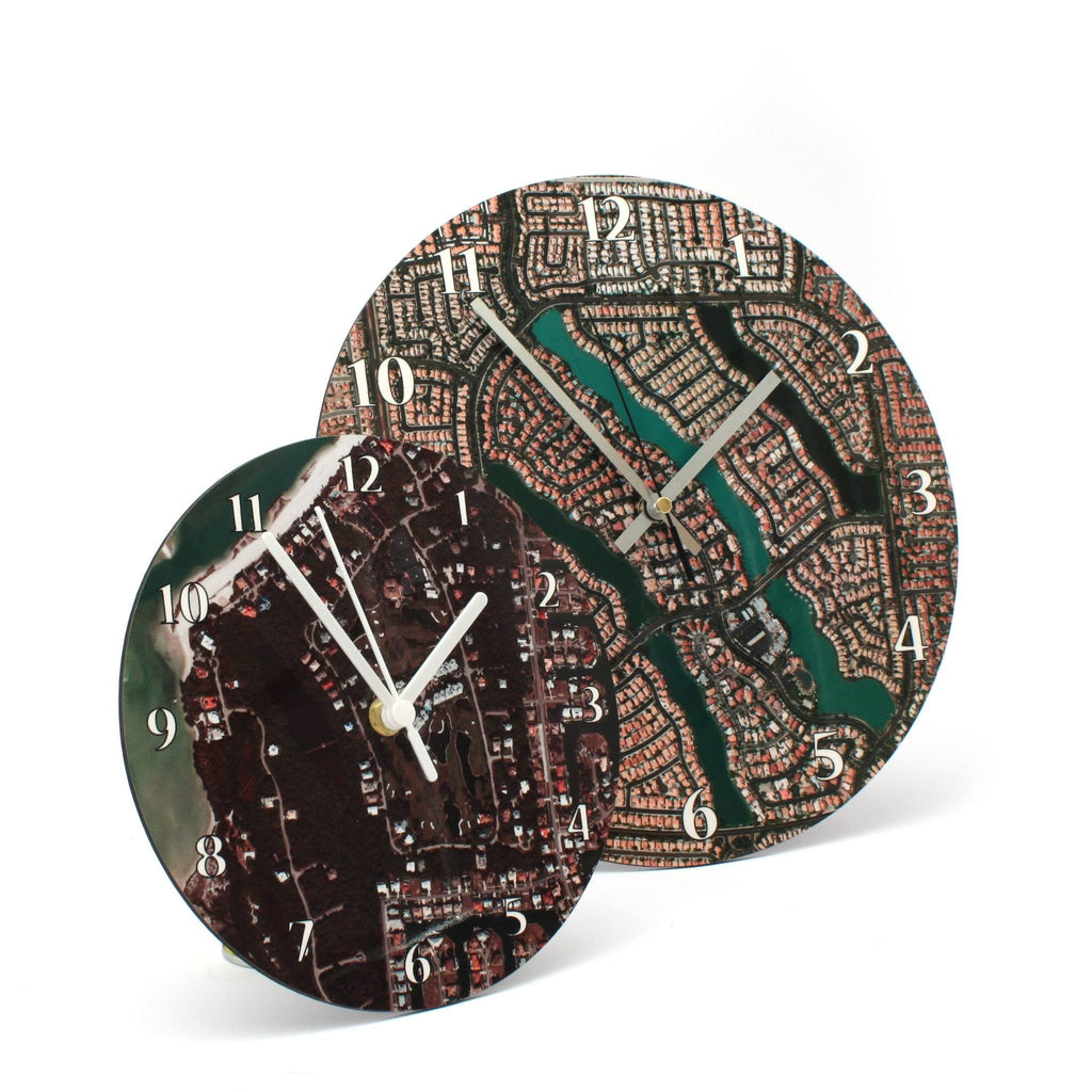 Clock - German Aerial Photo Clock - Centred On Your Home